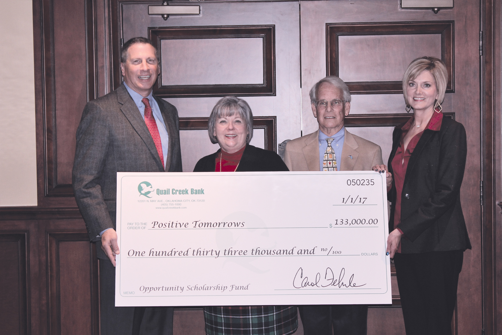 Osf College Of Nursing >> Bank makes major gift to scholarship unique education ...