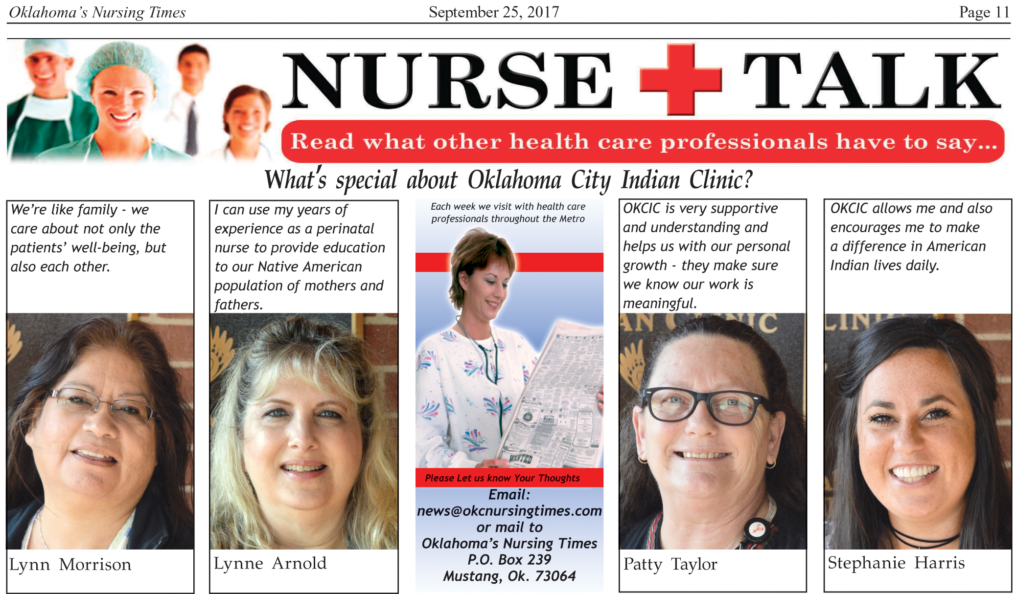 NURSE TALK: What's special about Oklahoma City Indian ...