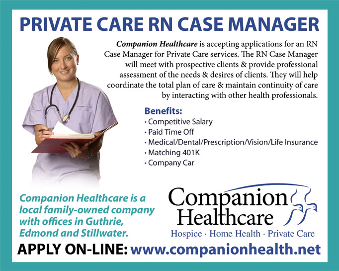 Companion Healthcare is accepting applications for PRIVATE CARE RN ...